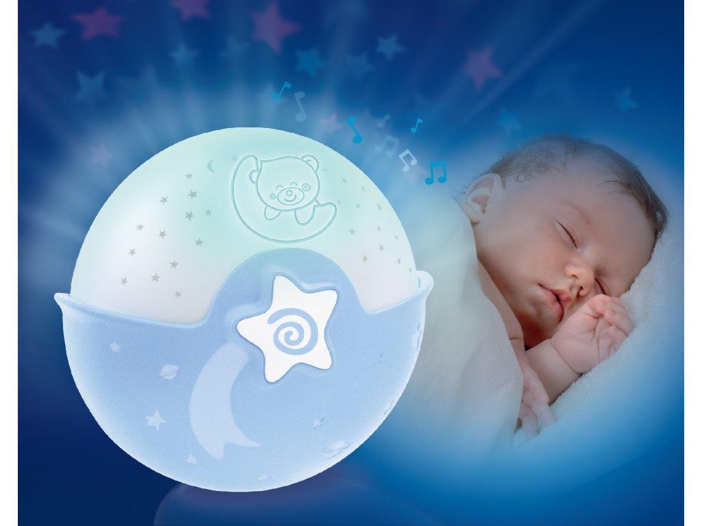INFANTINO NOČNÍ LAMPIČKA S PROJEKCÍ MODRÁ