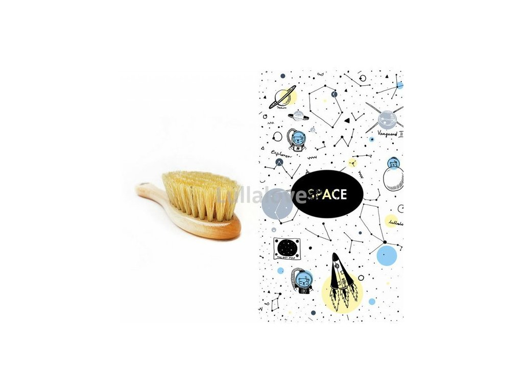 Kartáč na suchou hlavičku s žínkou Space