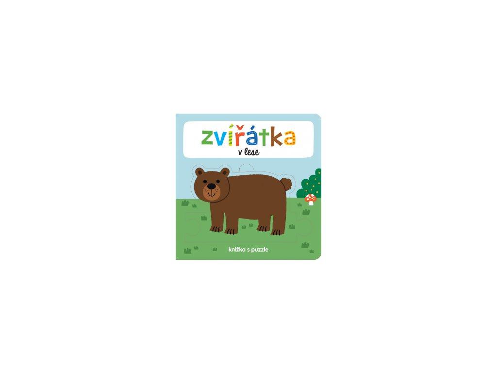 Zvířátka v lese Knížka s puzzle