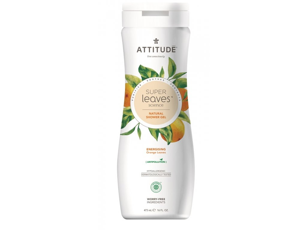 attitude super leaves sprchovy gel orange