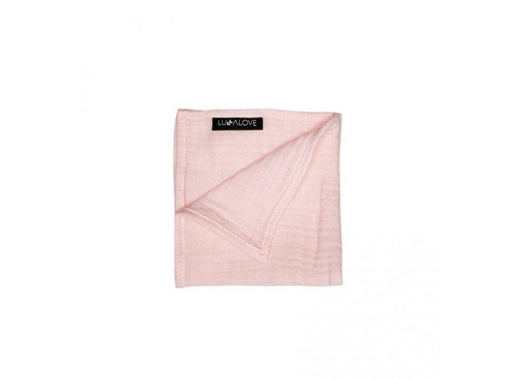 Mušelinová plenka 30x30cm Světle Růžová