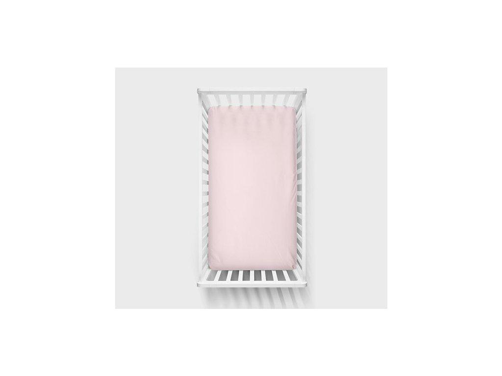 Bavlněné prostěradlo 120x60cm Růžová
