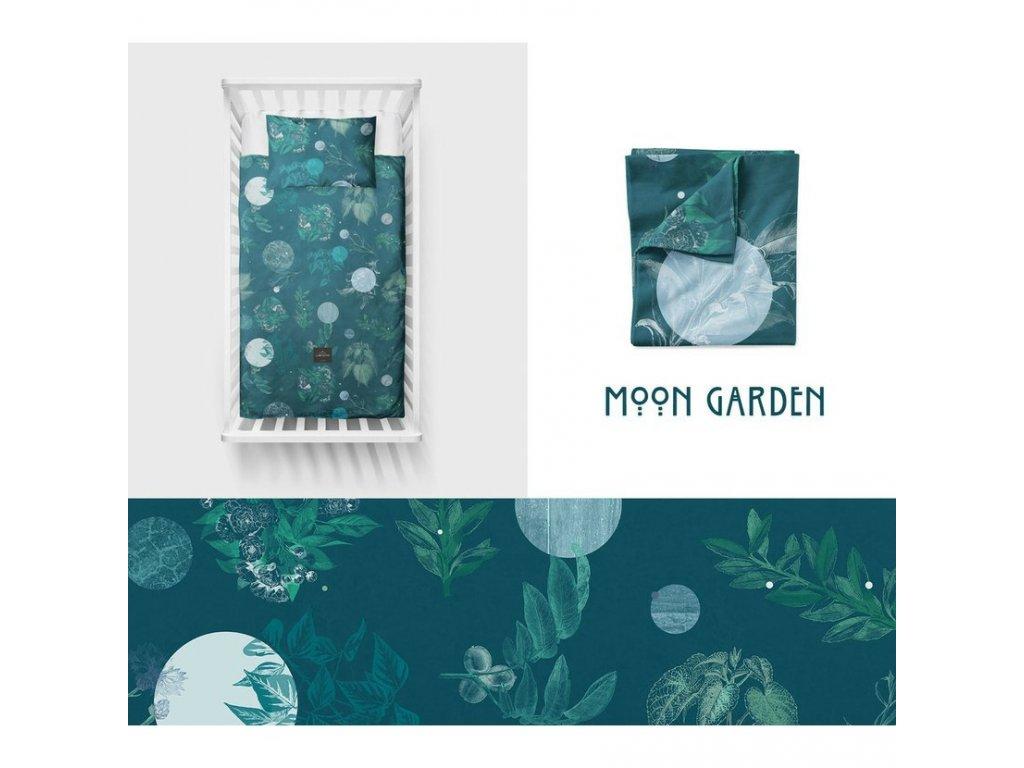 Bavlněné ložní povlečení 135x100 cm Moon Garden