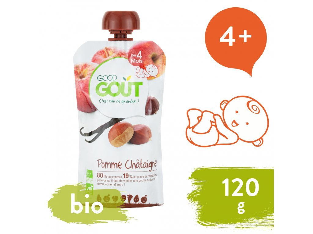 668 good gout bio jablko s kastanem a vanilkou 120 g.png