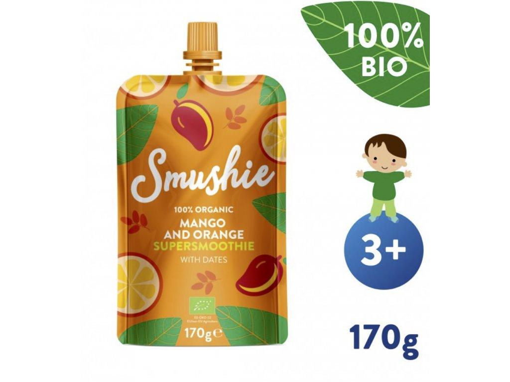 SALVEST Smushie BIO Ovocné smoothie s mangem, pomerančem a datlemi (170 g) HealthFactory.cz