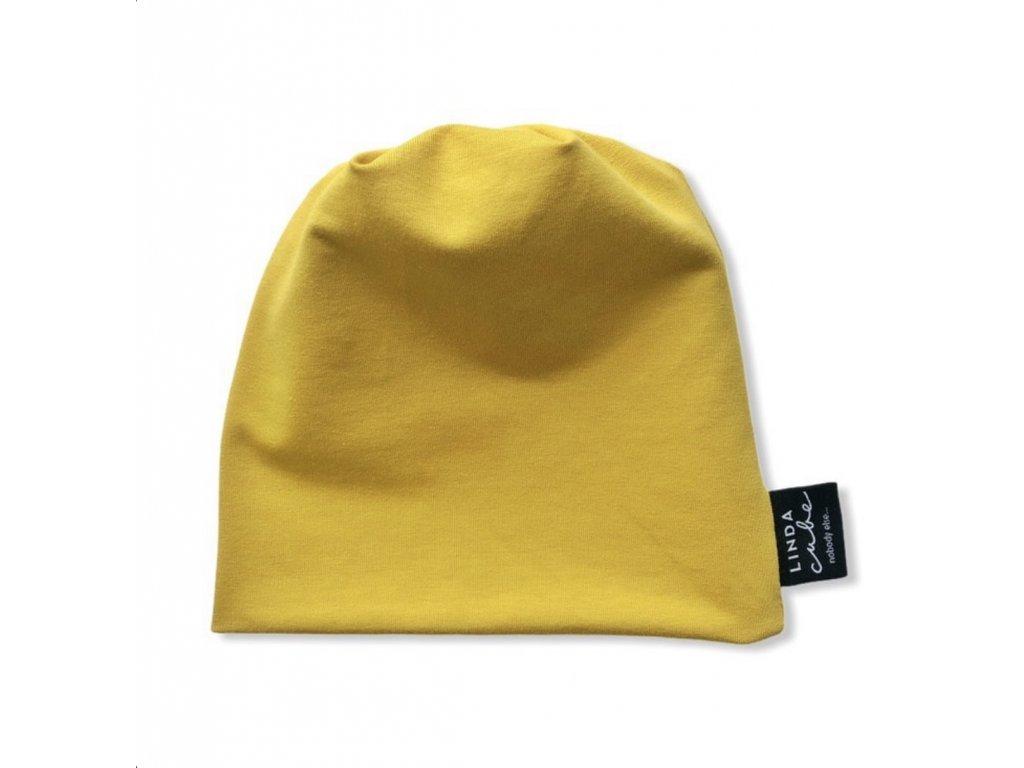 Linda Cube - Čepice 2-4 měsíce Mustard