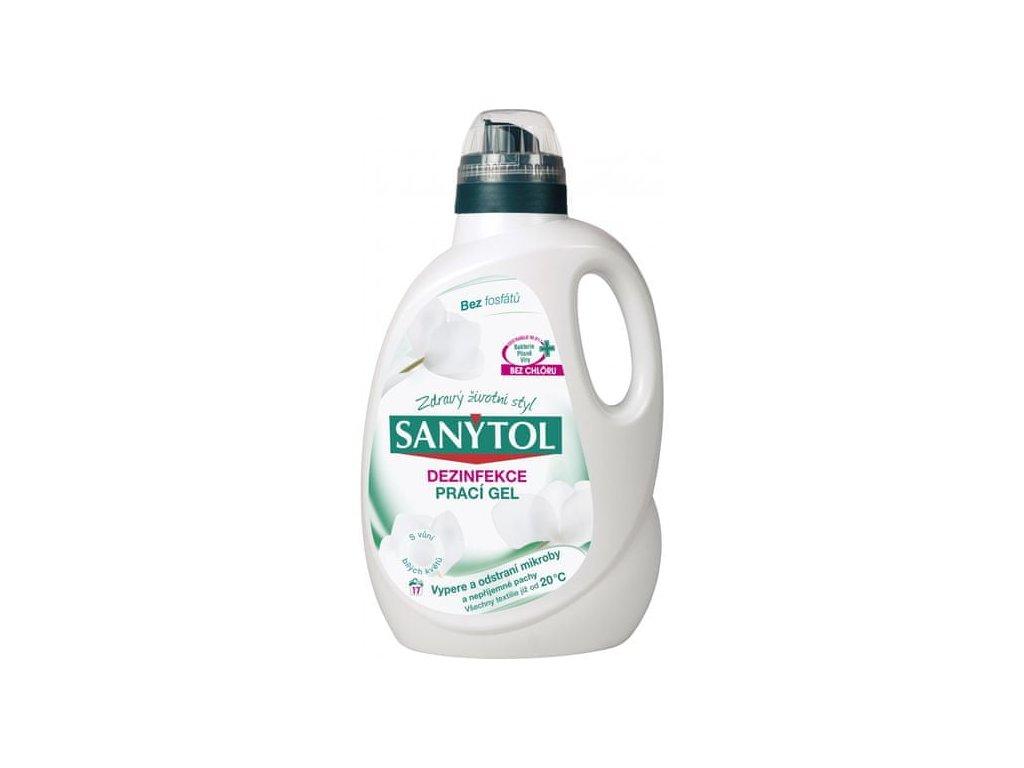 Prací gel Sanytol dezinfekční - s vůní bílých květů 1650 ml