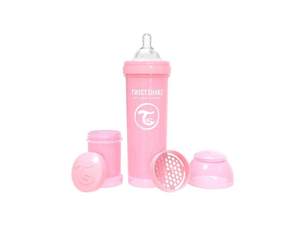 Twistshake - KOJENECKÁ LÁHEV ANTI-COLIC 330 ML Růžová