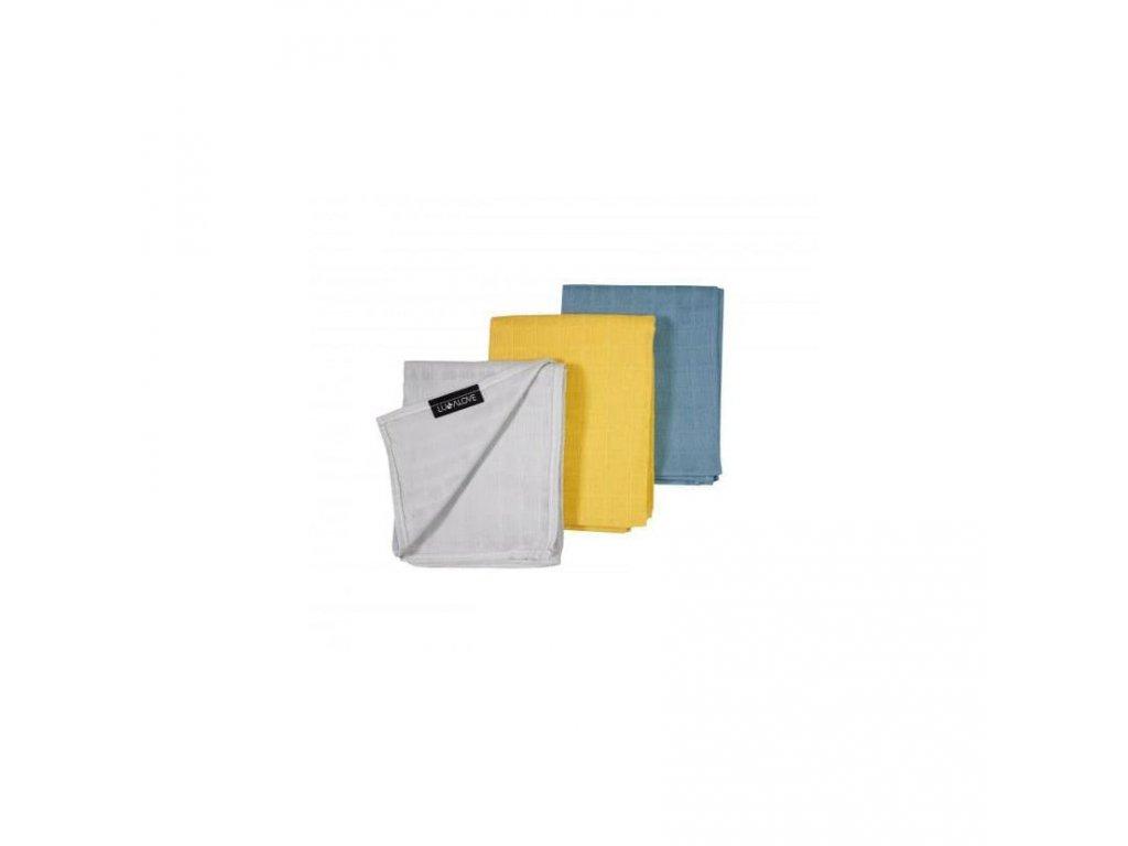 Sada barevných tetra plenek 55x75cm 3 barvy 5