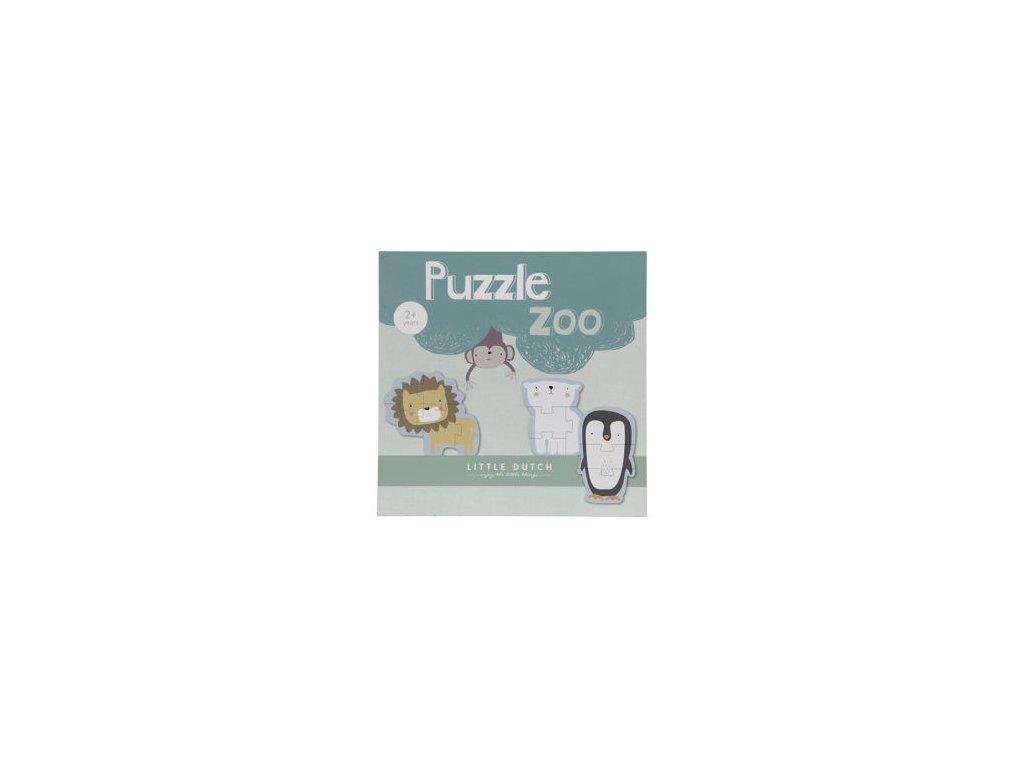 Little Dutch -Dřevěné puzzle Zoo
