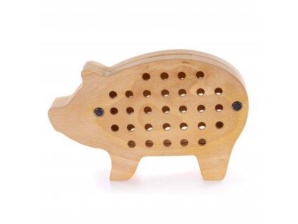 Dřevěná pokladnička - Prasátko