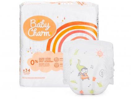 Baby Charm Super Dry Flex vel. 5 Junior, 11 - 25 kg, 34 ks