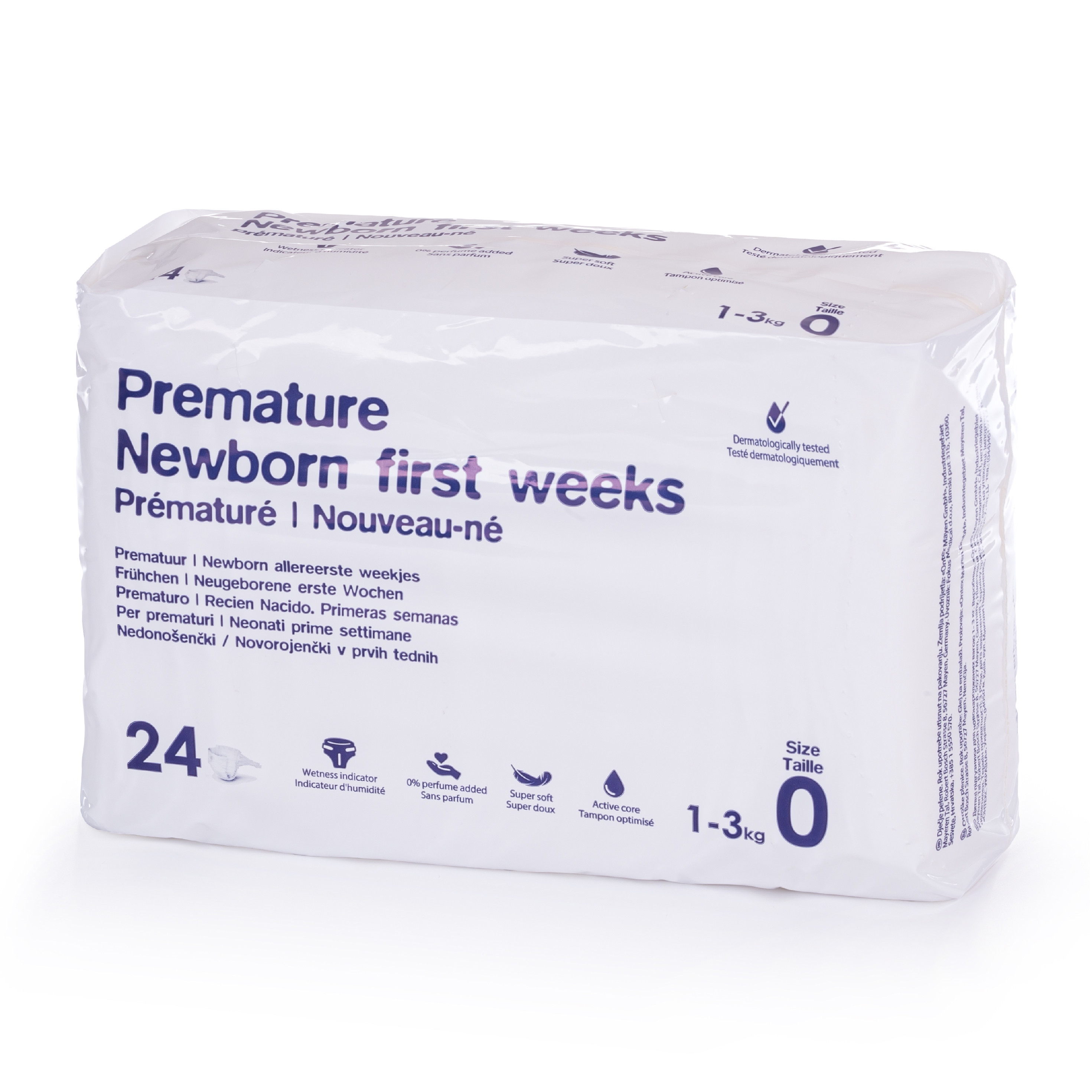 Ontex Group Premium Premature (1 - 3 KG) 24 ks
