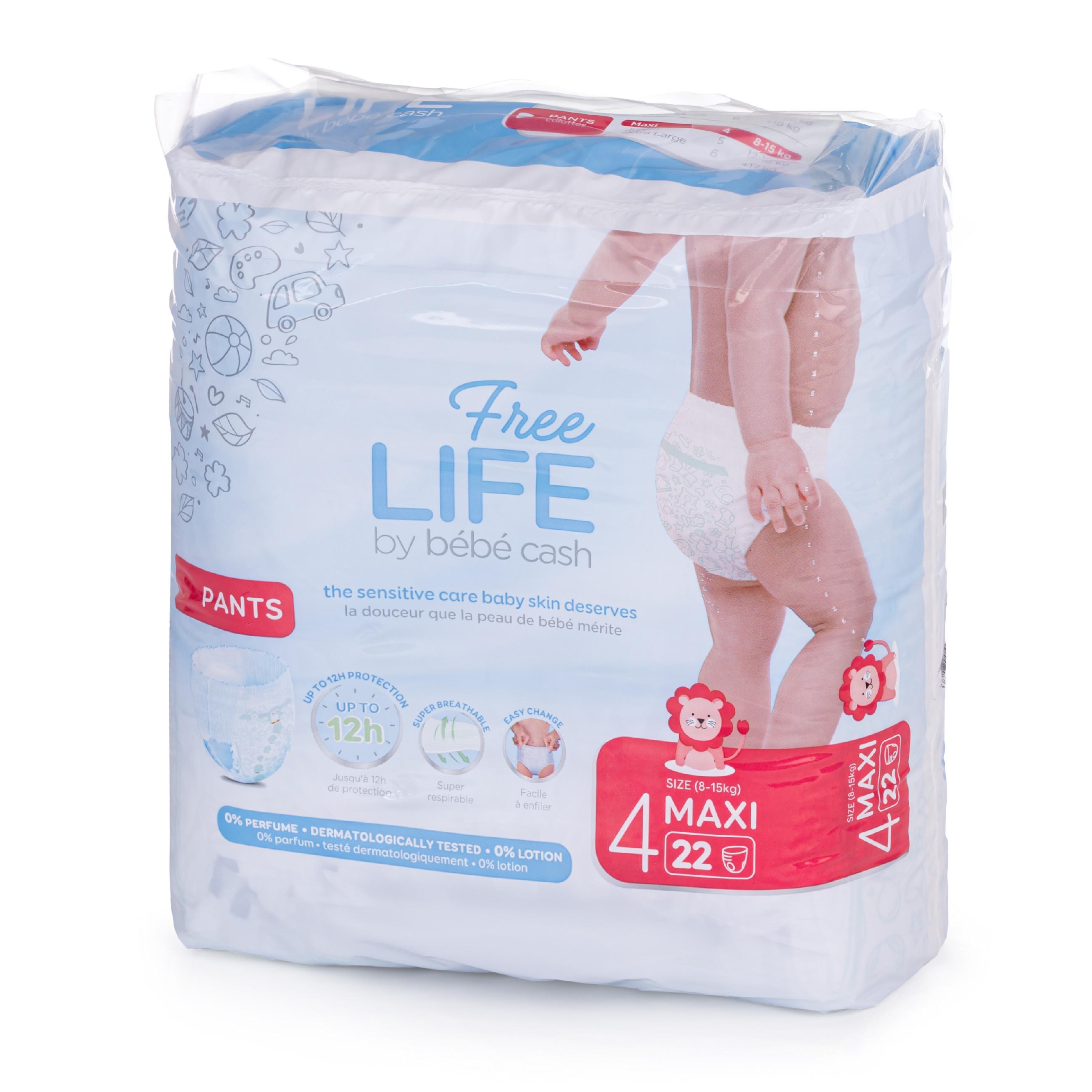 Ontex Group Bébé Cash Premium Pants vel.4 Maxi (8-15 kg)22ks