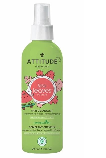Sprej pro snadné rozčesávání dětských vlásků ATTITUDE Little leaves s vůní melounu a kokosu 240 ml