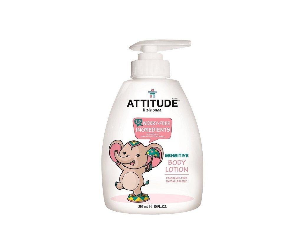 Detské telové mlieko, bez vône ATTITUDE 300 ml