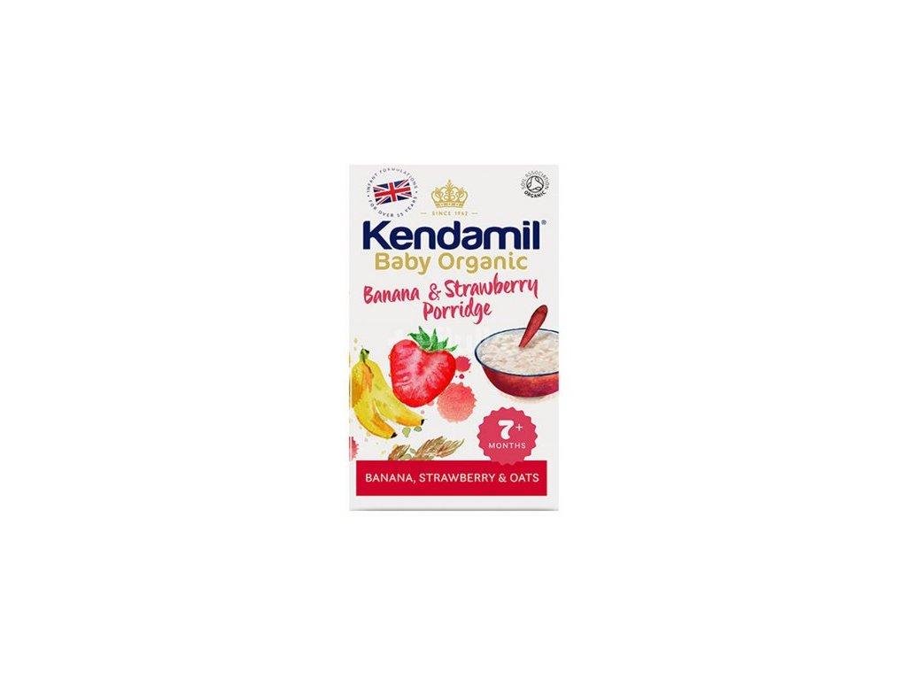 Kendamil Organická / BIO banánová, jahodová kaša 150g