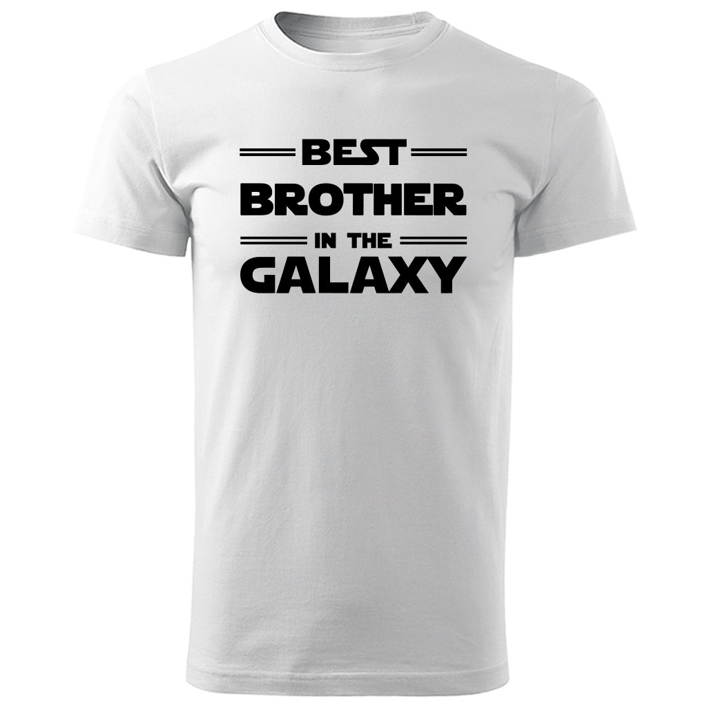 Bílé tričko best brother in the galaxy