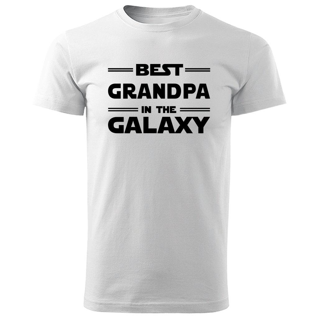 bílé tričko Best grandpa in the galaxy