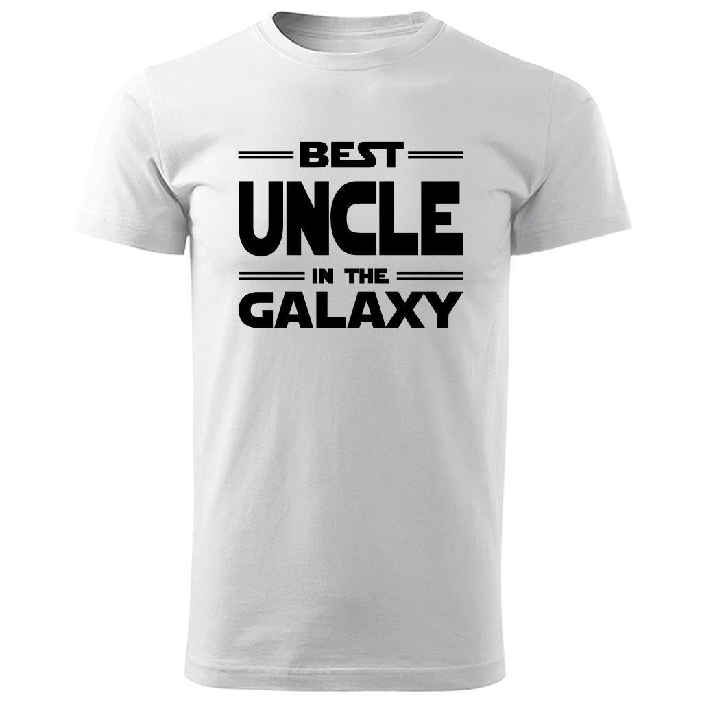 Bílé tričko best uncle in the galaxy