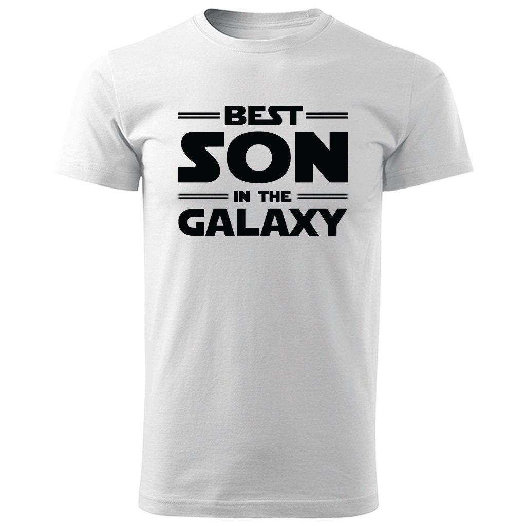 Bílé tričko best son in the galaxy