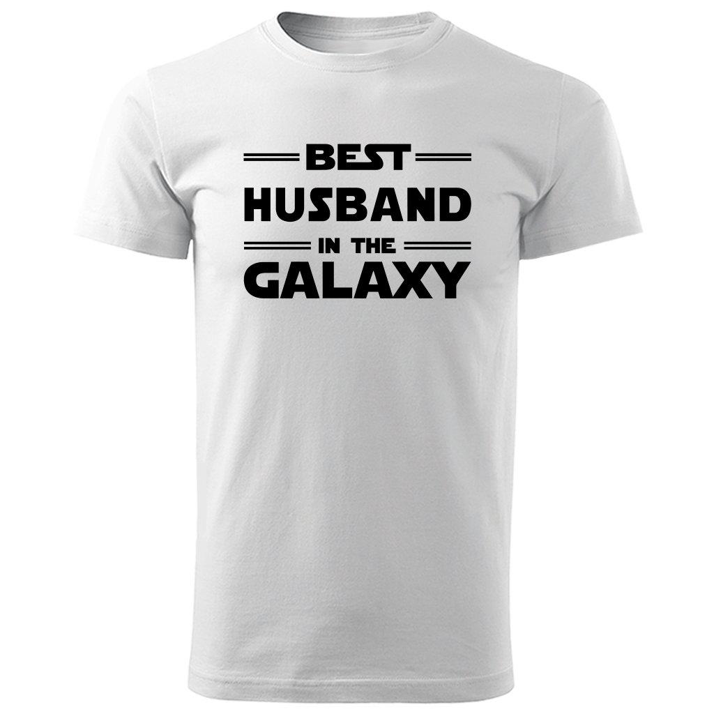 Bílé tričko best husband in the galaxy