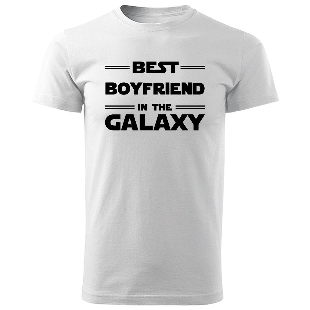Bílé tričko best boyfriend in the galaxy