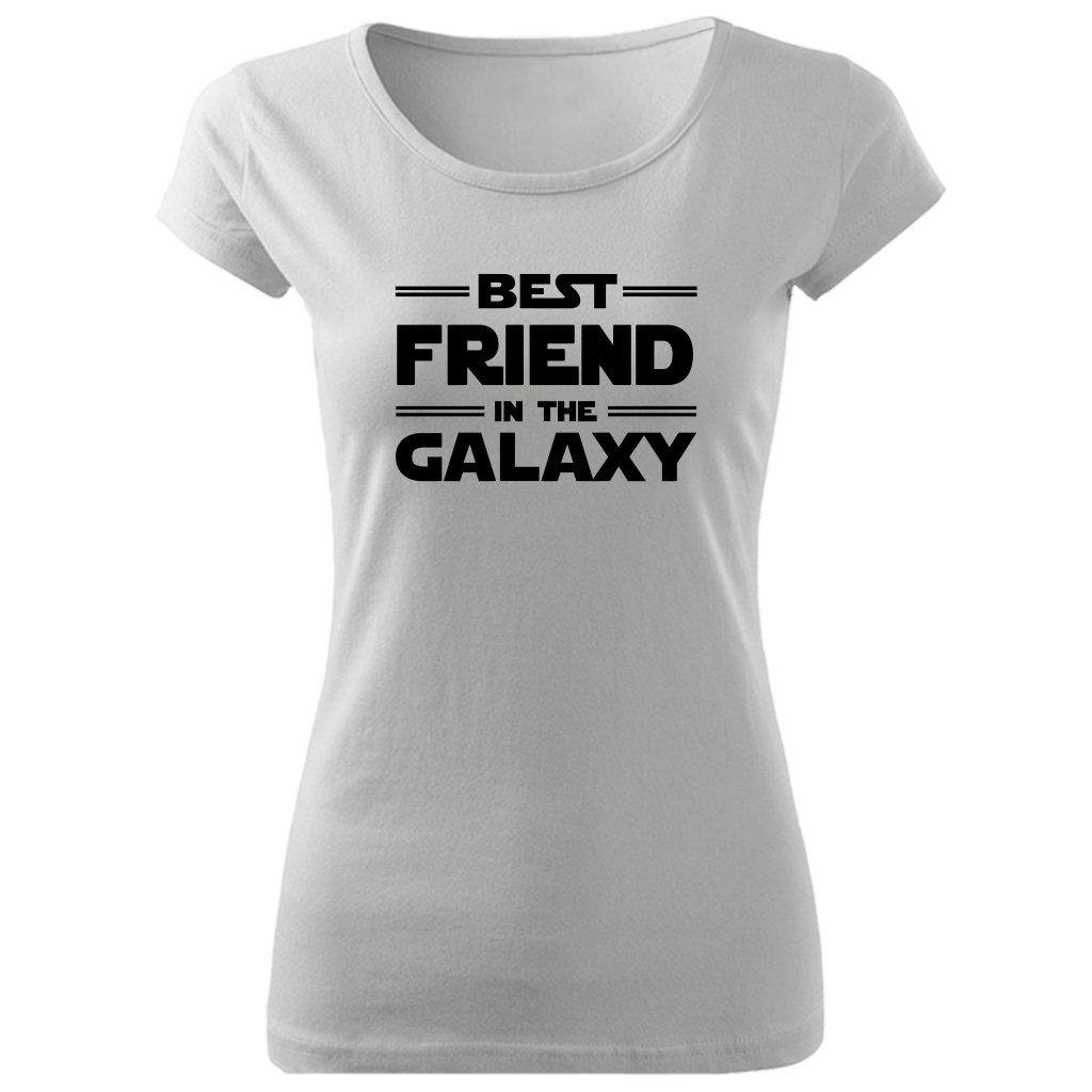 Dámské tričko best friend in the galaxy bílé
