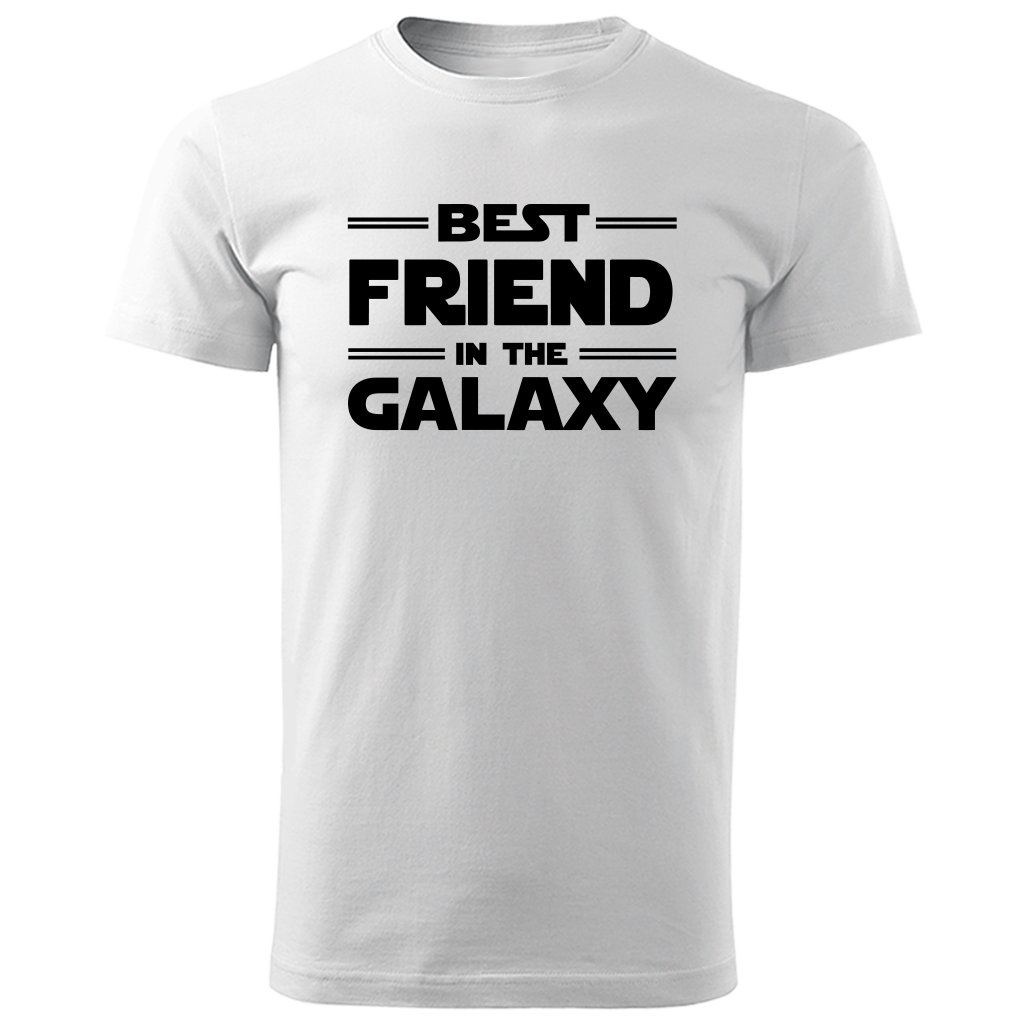 Bílé tričko best friend in the galaxy