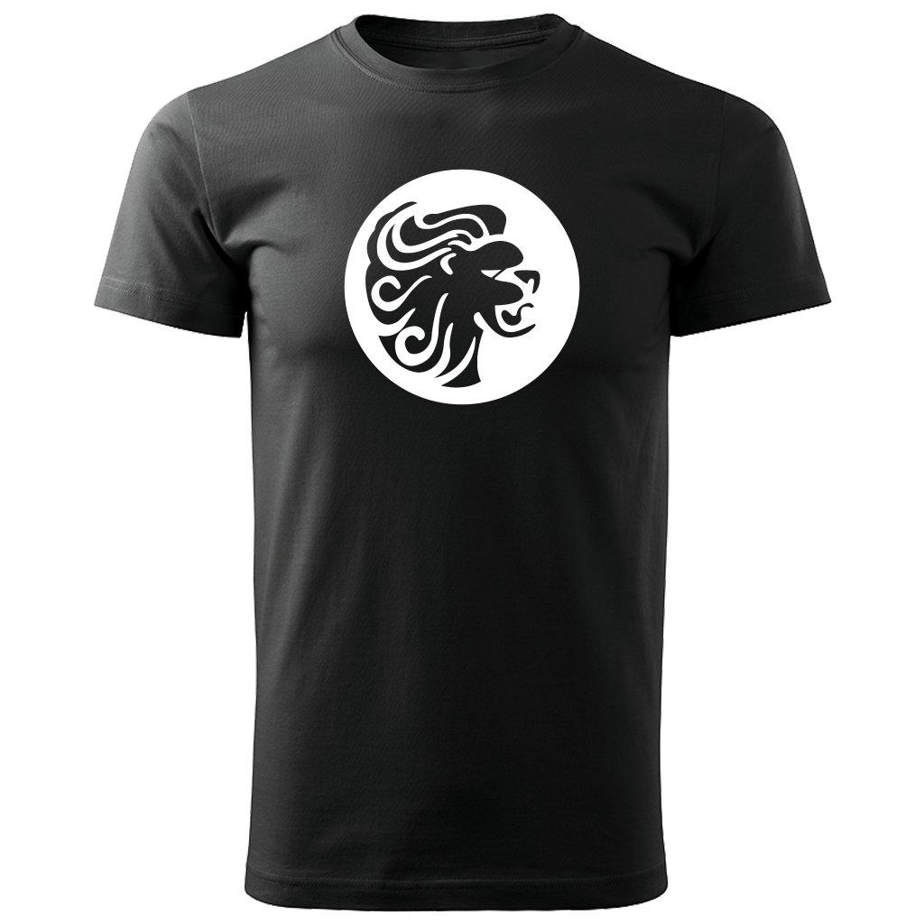 Pánské tričko Lev - Horoskop - černé