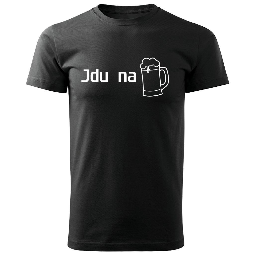 Pánské tričko Jdu na pivo - černé