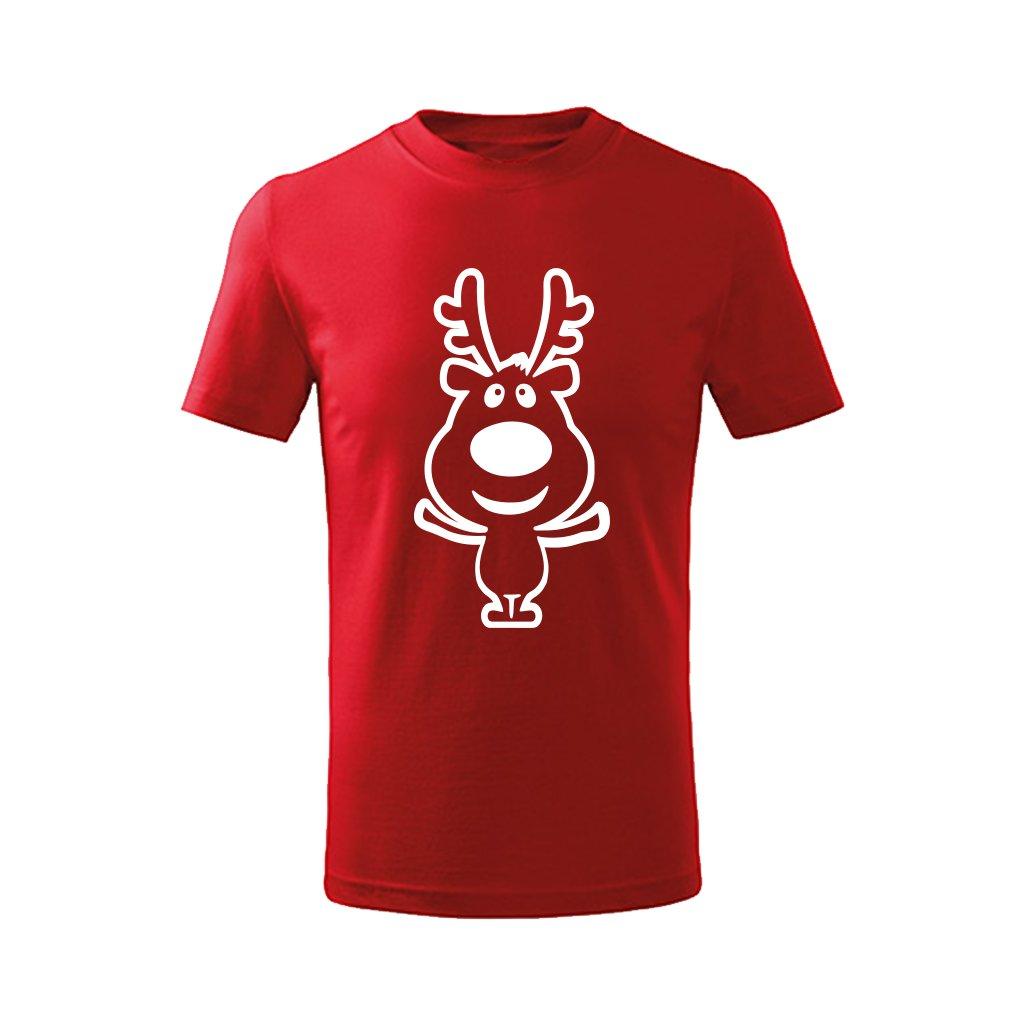 Vánoční tričko dětské - červené