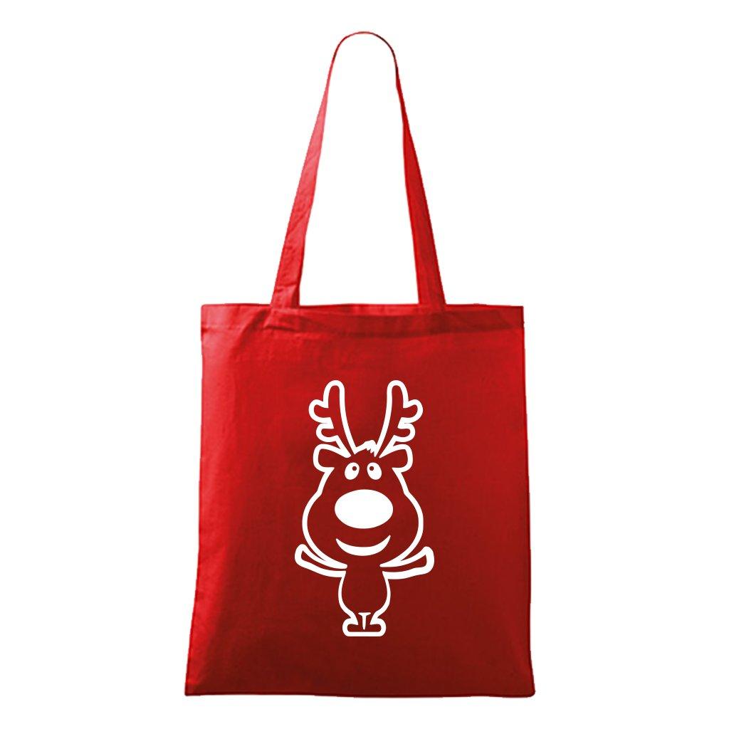 vánoční taška se sobem - červená