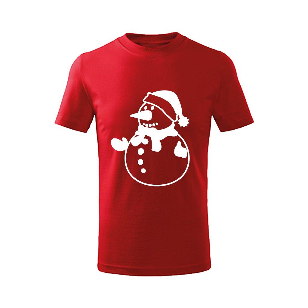 Dětské vánoční tričko se sněhulákem