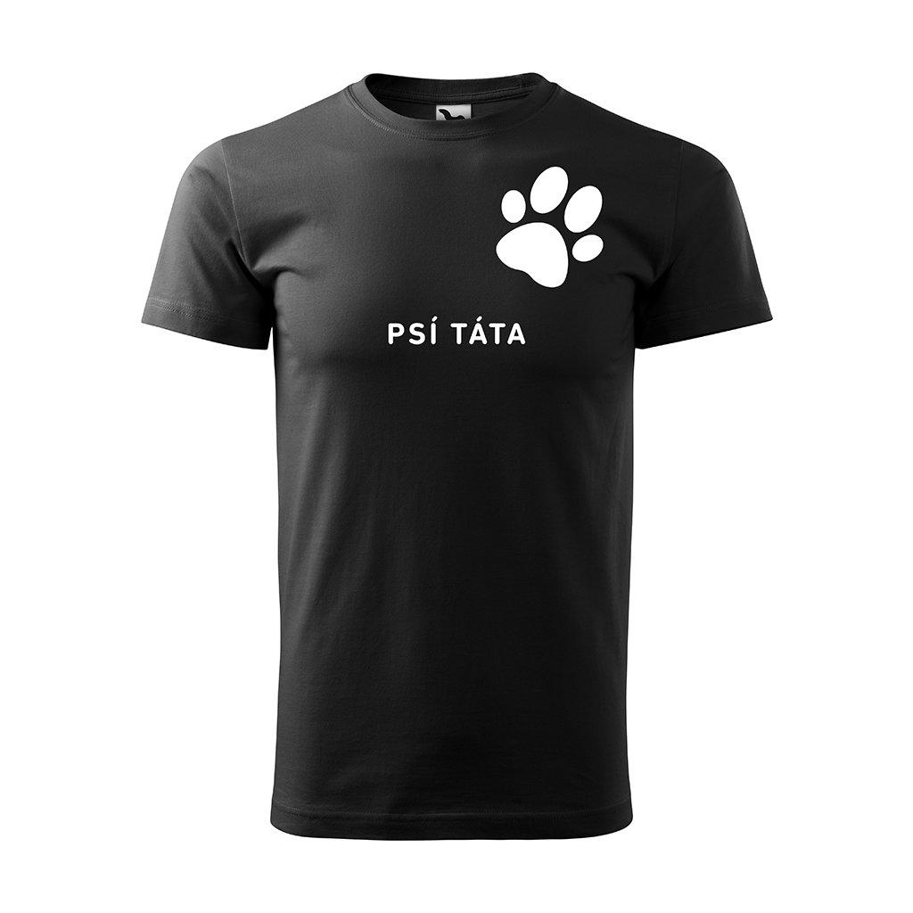 Černé Pánské tričko Psí Táta