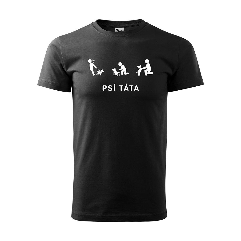 Černé Pánské tričko Psí Táta 2