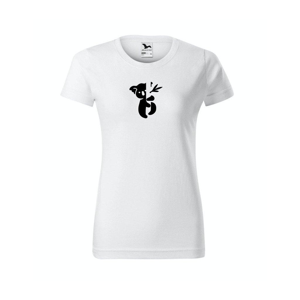 Dámské tričko s koalou bílé