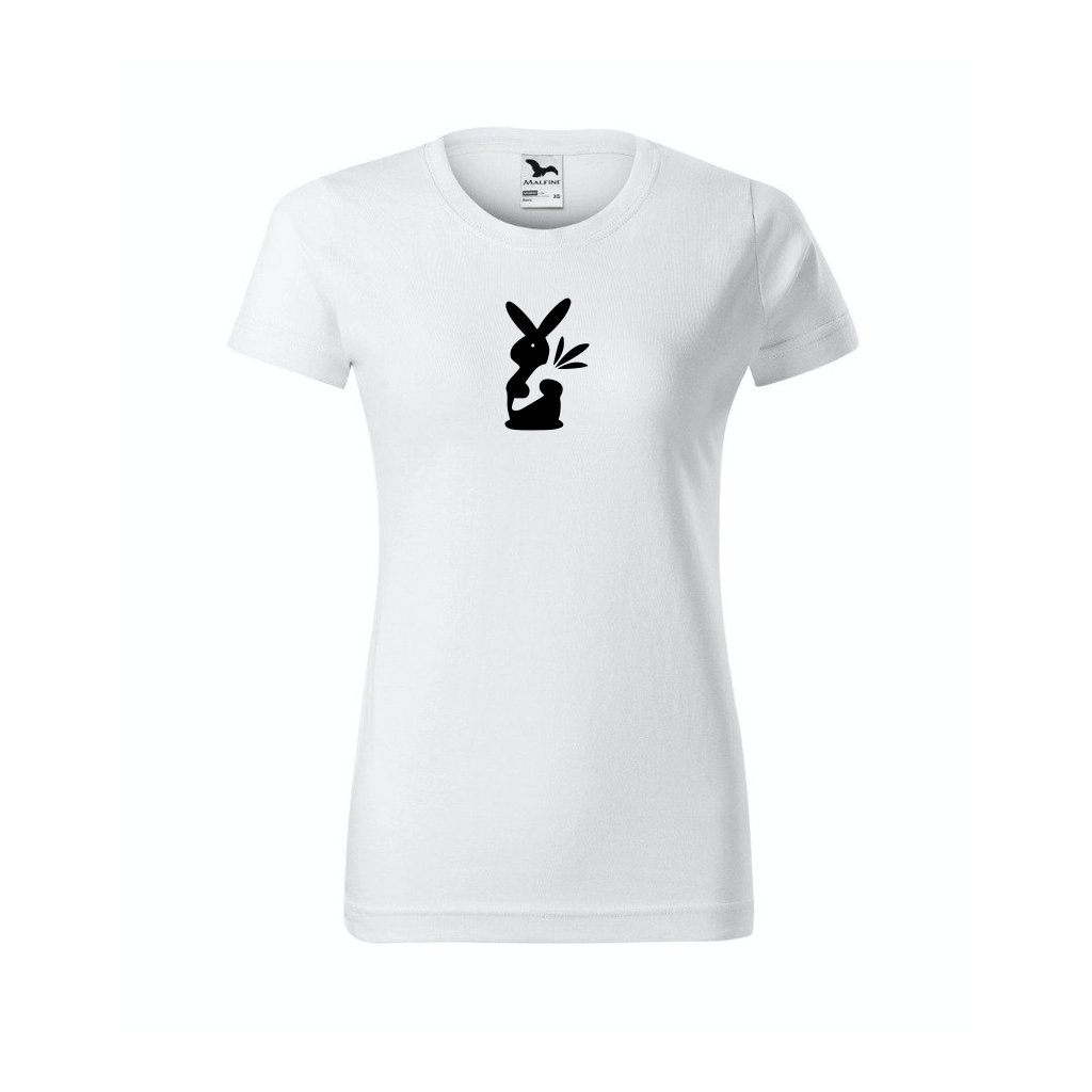 Dámské tričko s králikem bílé
