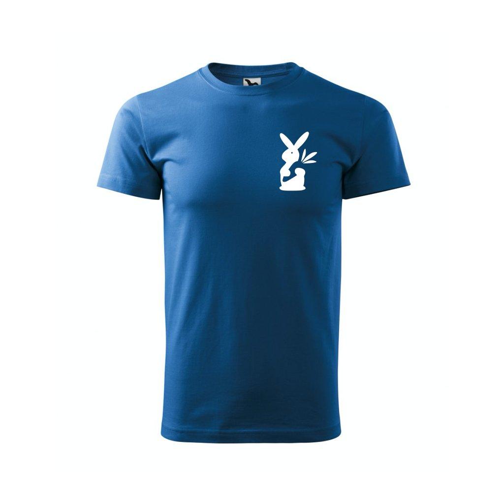 Pánské tričko s králíkem modré