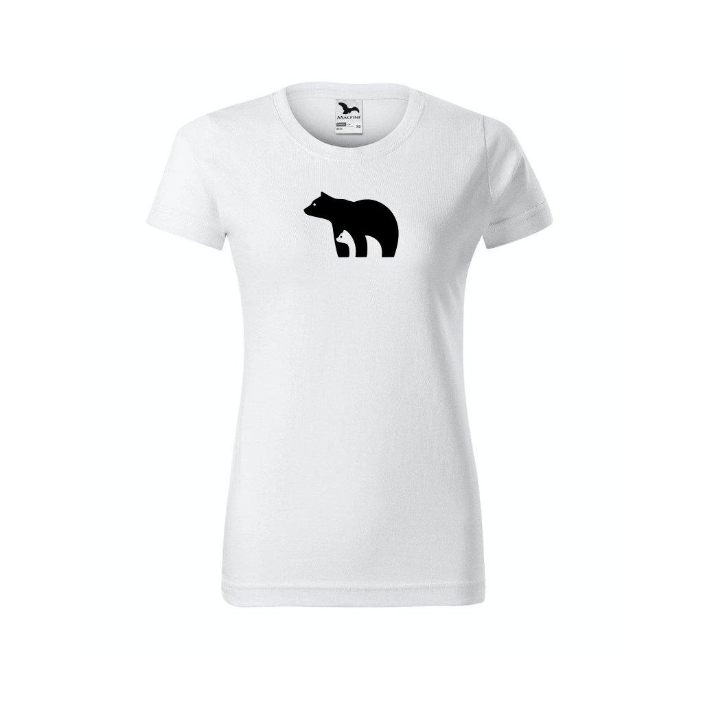 Dámské tričko s ledním medvědem bílé