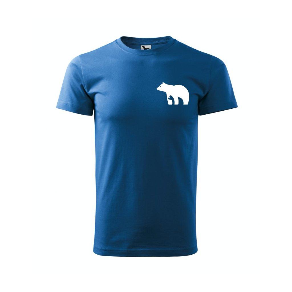 Pánské tričko lední medvěd modré