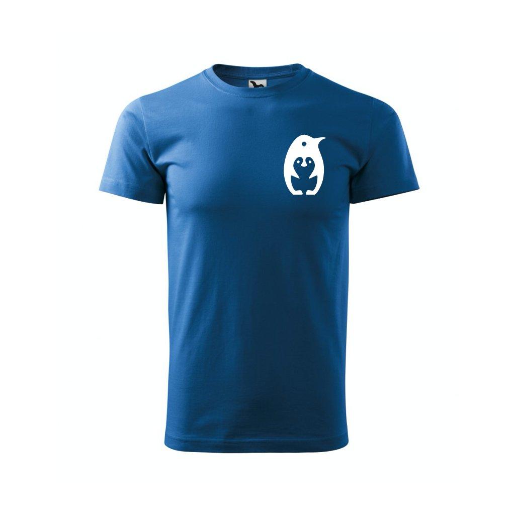 Pánské tričko s tučňákem modré