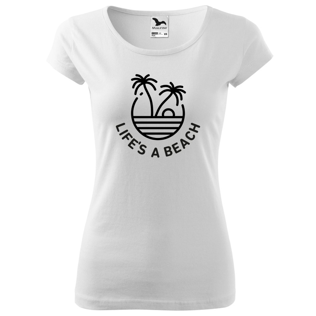 Dámské tričko Life's a beach