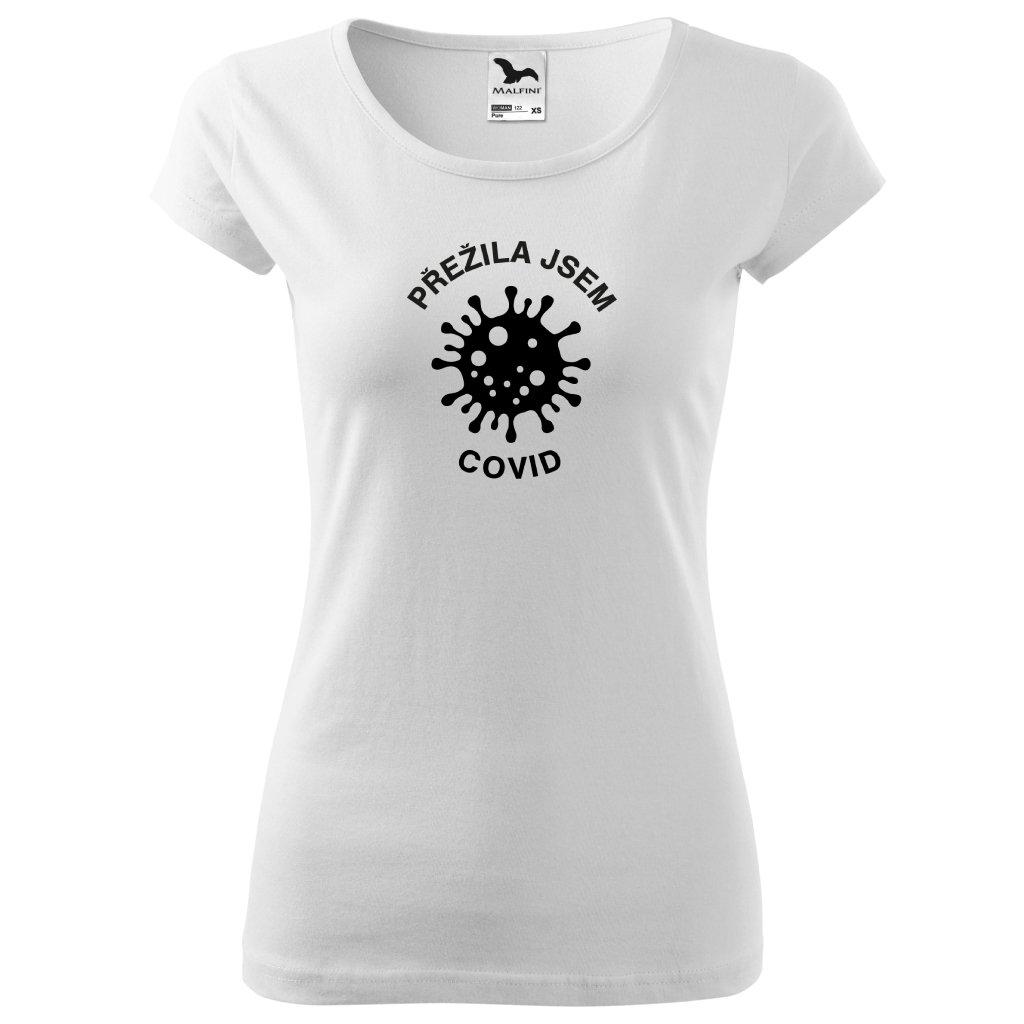 Dámské tričko Přežila jsem Covid