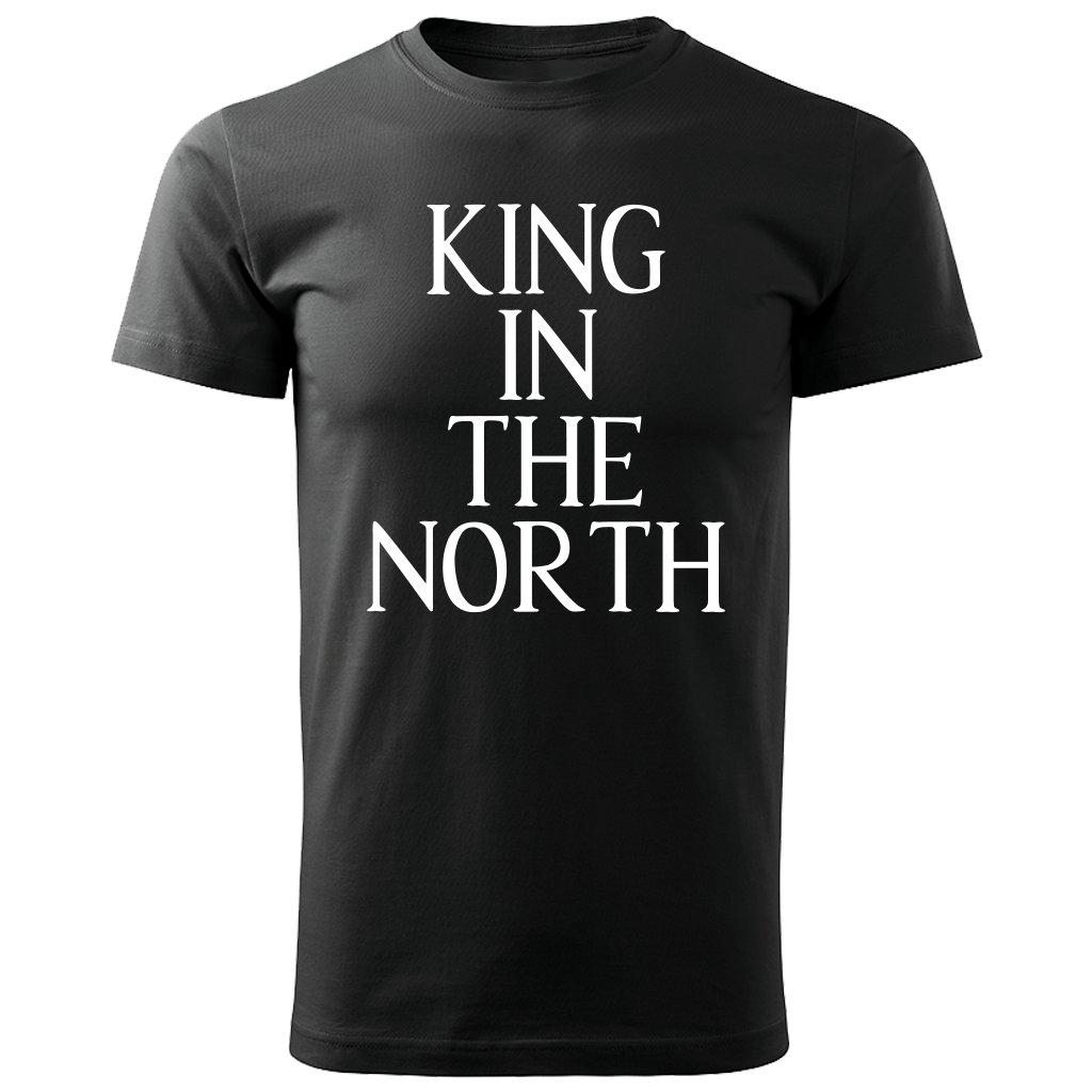 Pánské tričko King in the north - černé