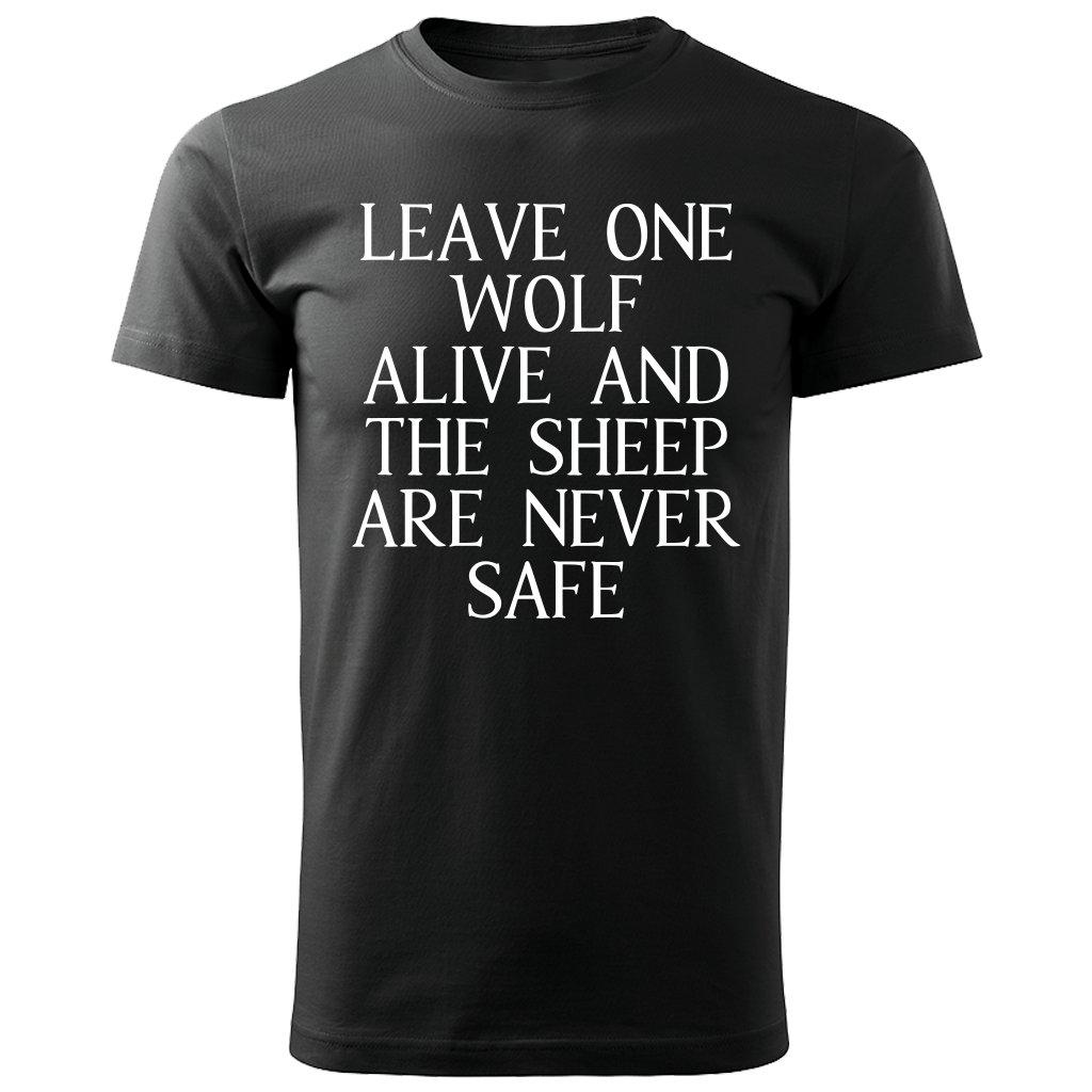 Pánské triko leave one wolf alive - černé