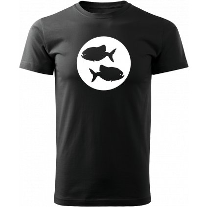 Černé tričko ryby