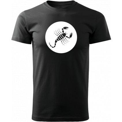 Černé tričko štír