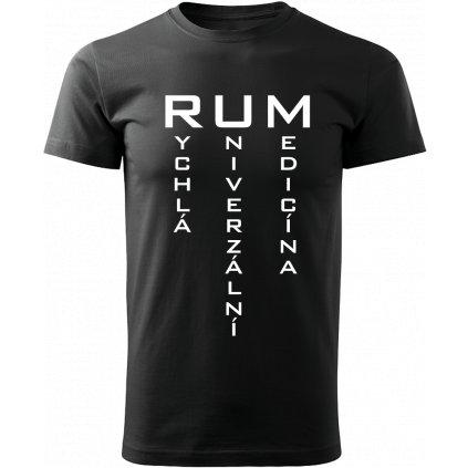 Pánské tričko RUM - rychlá univerzální medicína - černé