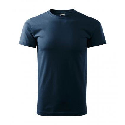 Pánské tričko bez potisku námořnicky modré